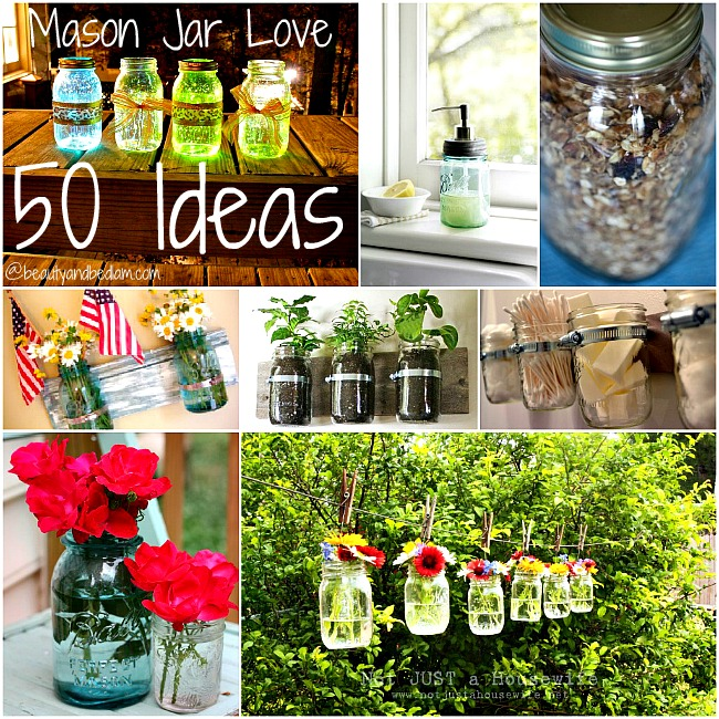 Ways To Decorate Glass Jars: Ideas For Mason Jars: Creative Uses For Jars