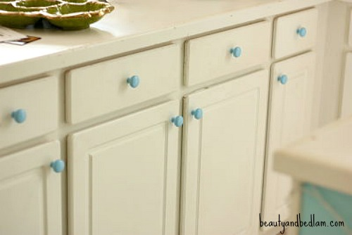 Spray Paint Kitchen Cabinet Pulls